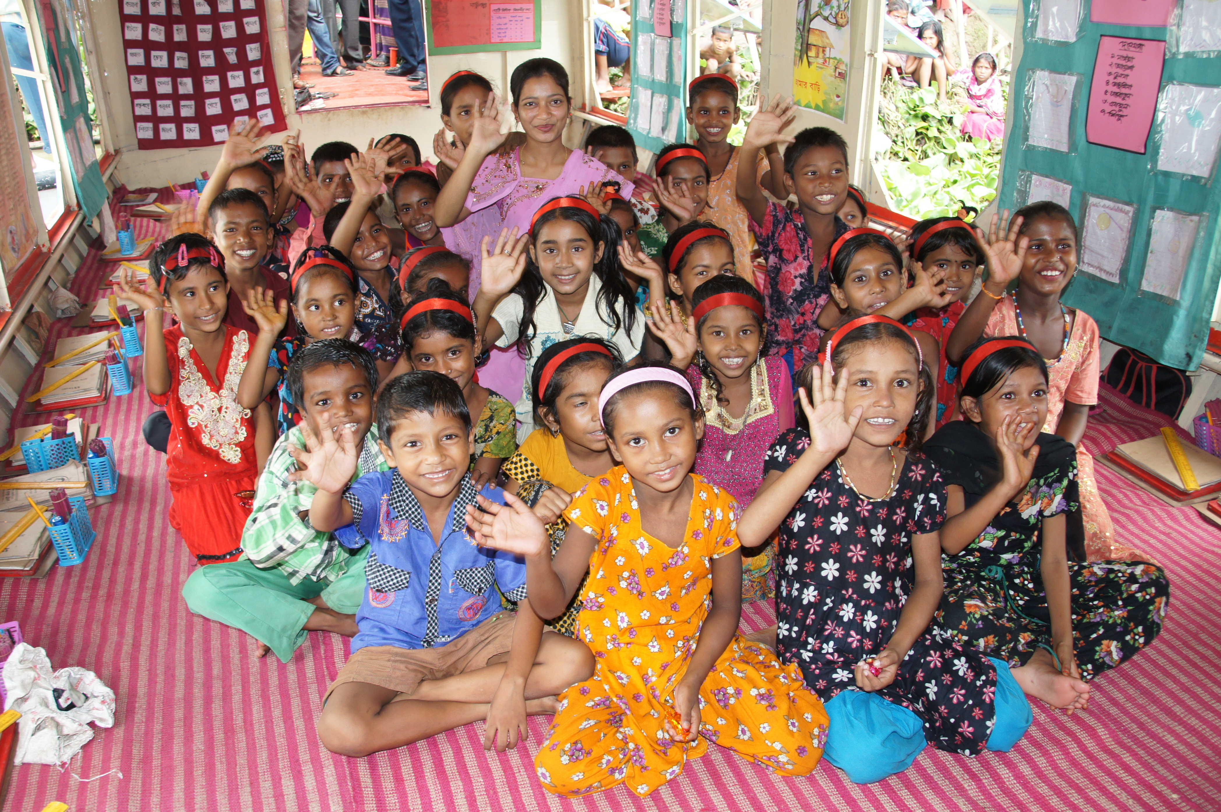 Boat Schools for Rural Children | Educate a Child Young Children Working Together