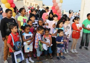 Northwestern University Qatar students show their support for EAC in dedicated solidarity walk