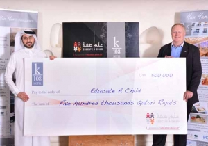 Educate A Child Receives Donation from K108 Hotel in Doha