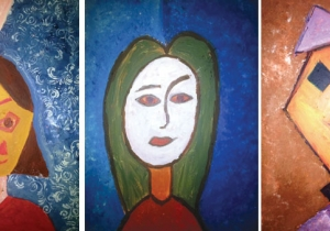 Shafallah kids donate three paintings for Educate A Child