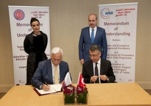 HH Sheikha Moza witnesses the signing of two MoUs for her initiative Education Above All