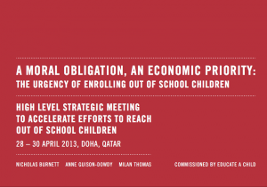 A Moral Obligation, an Economic Priority:  the Urgency of Enrolling Out of School Children