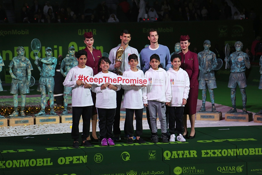 Education Above All Showcased at Qatar Exxon Mobil Open 2017 Tennis Championship
