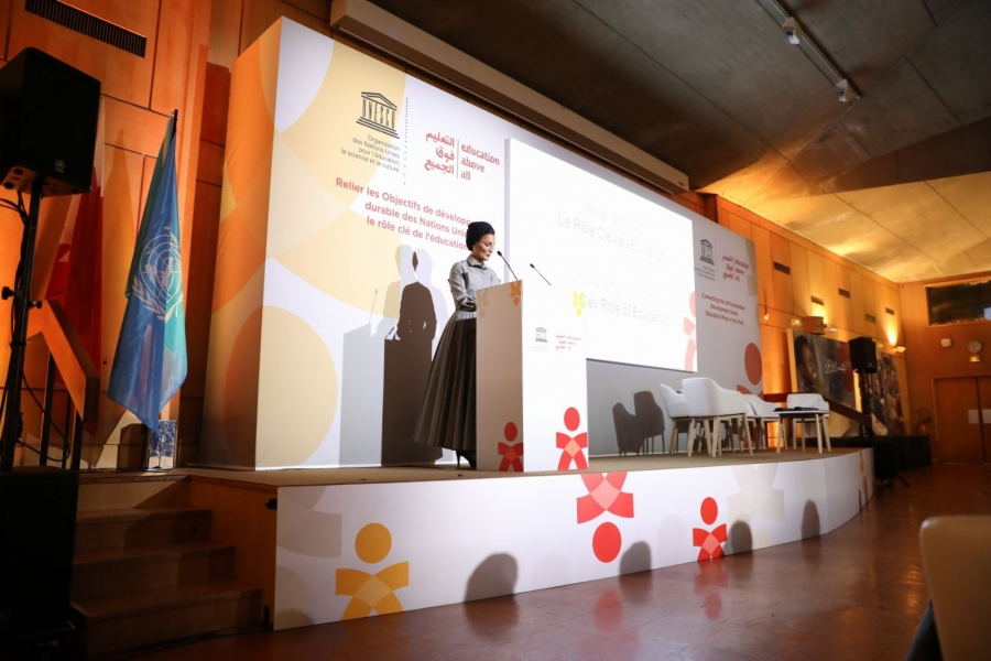 HH Sheikha Moza & Director General Of UNESCO Urge Renewed Commitment for Education