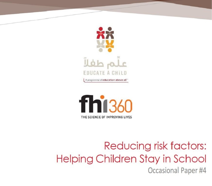 Reducing Risk Factors: Helping Children Stay in School – Occasional Paper #4